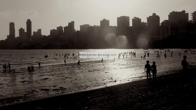 Chowpatty beach, Mumbai, Intia
