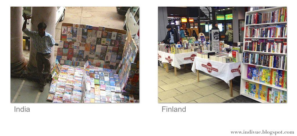 Suomalainen ja intialainen katukirjakauppa