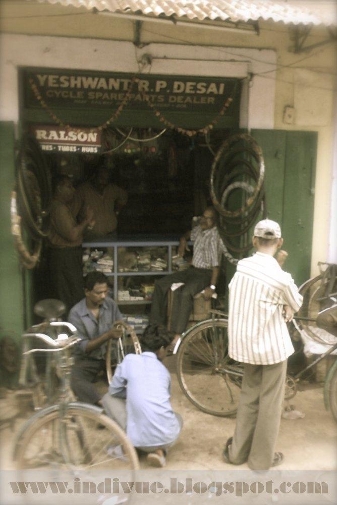 Polkupyörähuolto Goassa