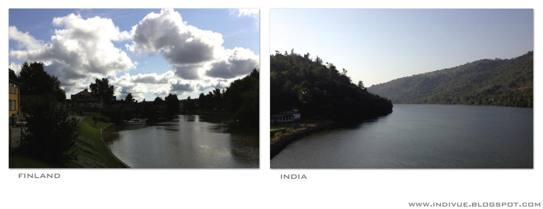 Joki Suomessa ja joki Intiassa