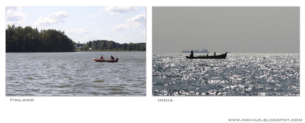 Kalastajia Suomessa ja Intiassa