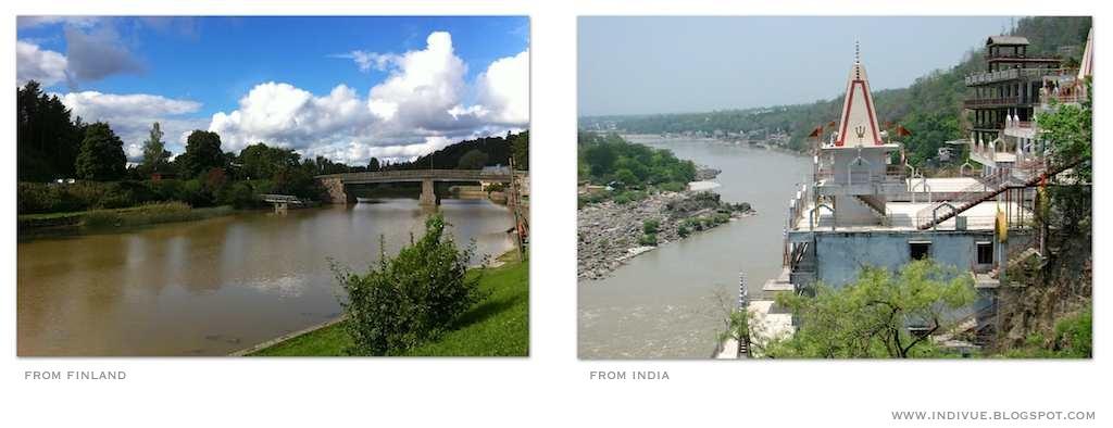Suomalainen joki ja intialainen joki