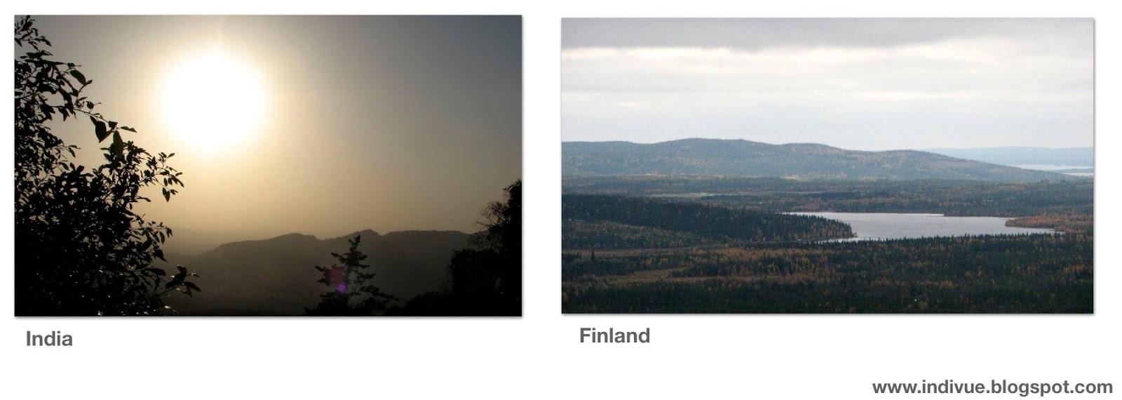 Suomalainen ja intialainen vuori