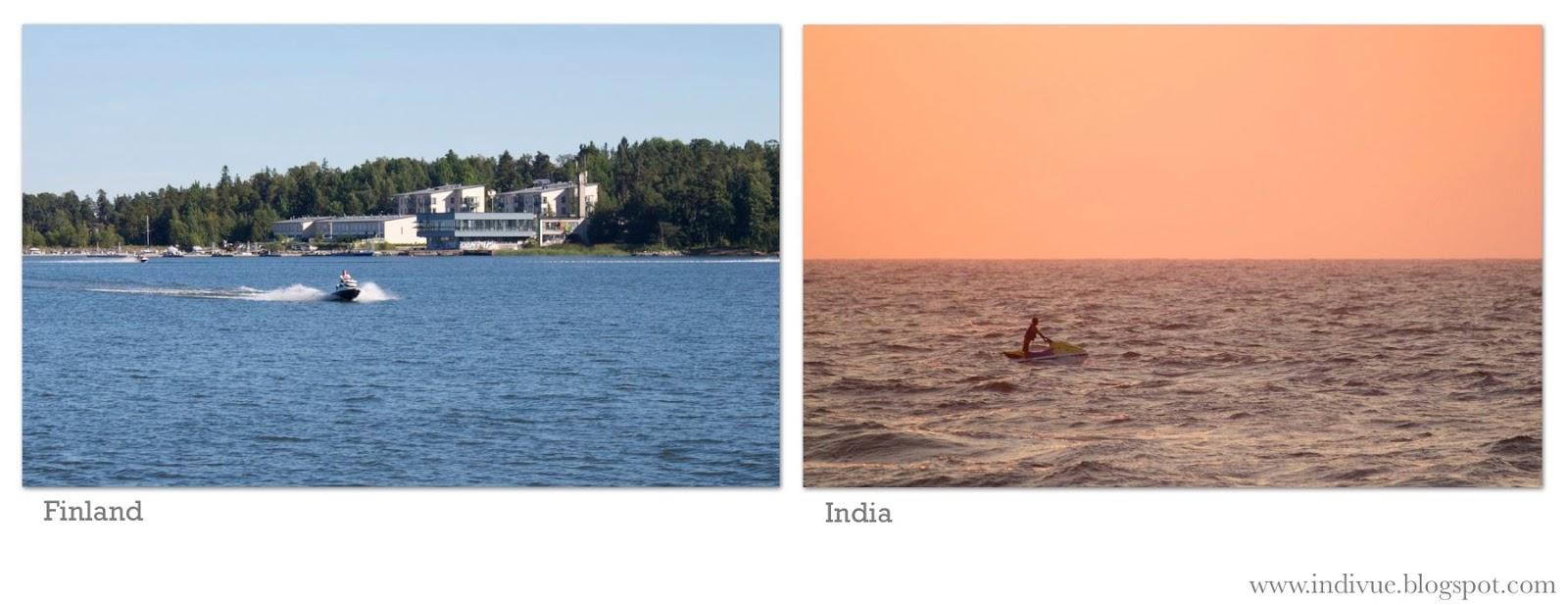 Vesiskootteri Suomessa ja Intiassa