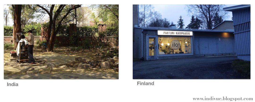 Parturi Intiassa ja Suomessa