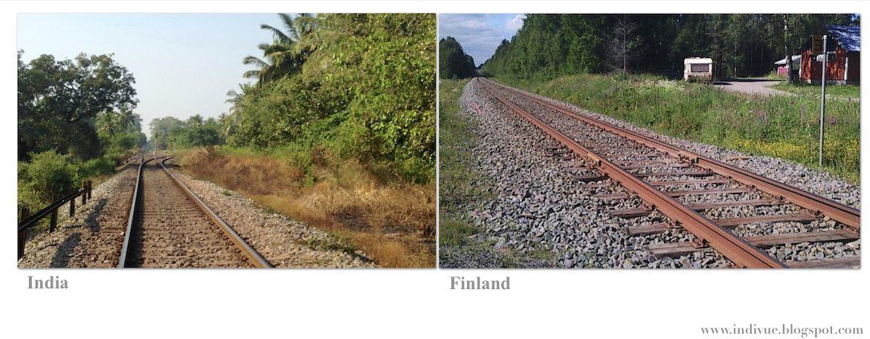 Suomalainen ja intialainen rautatie