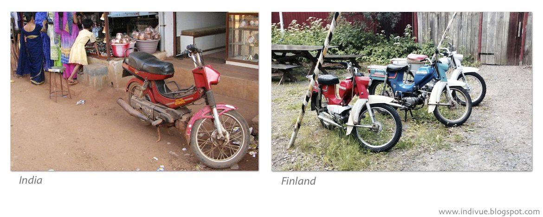 Pappamopo Suomessa ja Intiassa