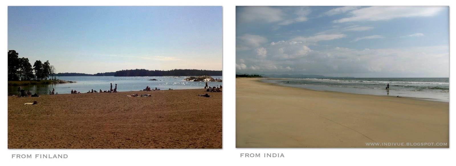 Suomalainen ja intialainen ranta