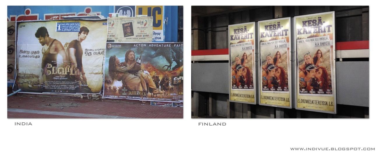 Elokuvajuliste Suomessa ja Intiassa