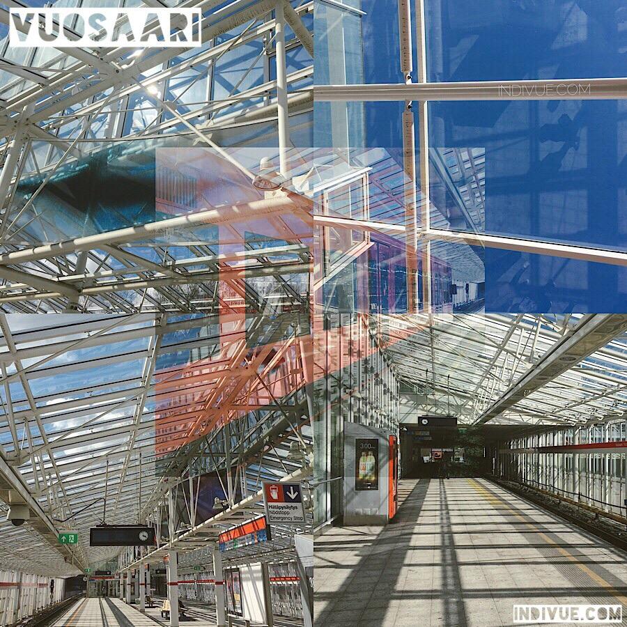 Vuosaari, Helsinki, metroasema valokuvamontaasi