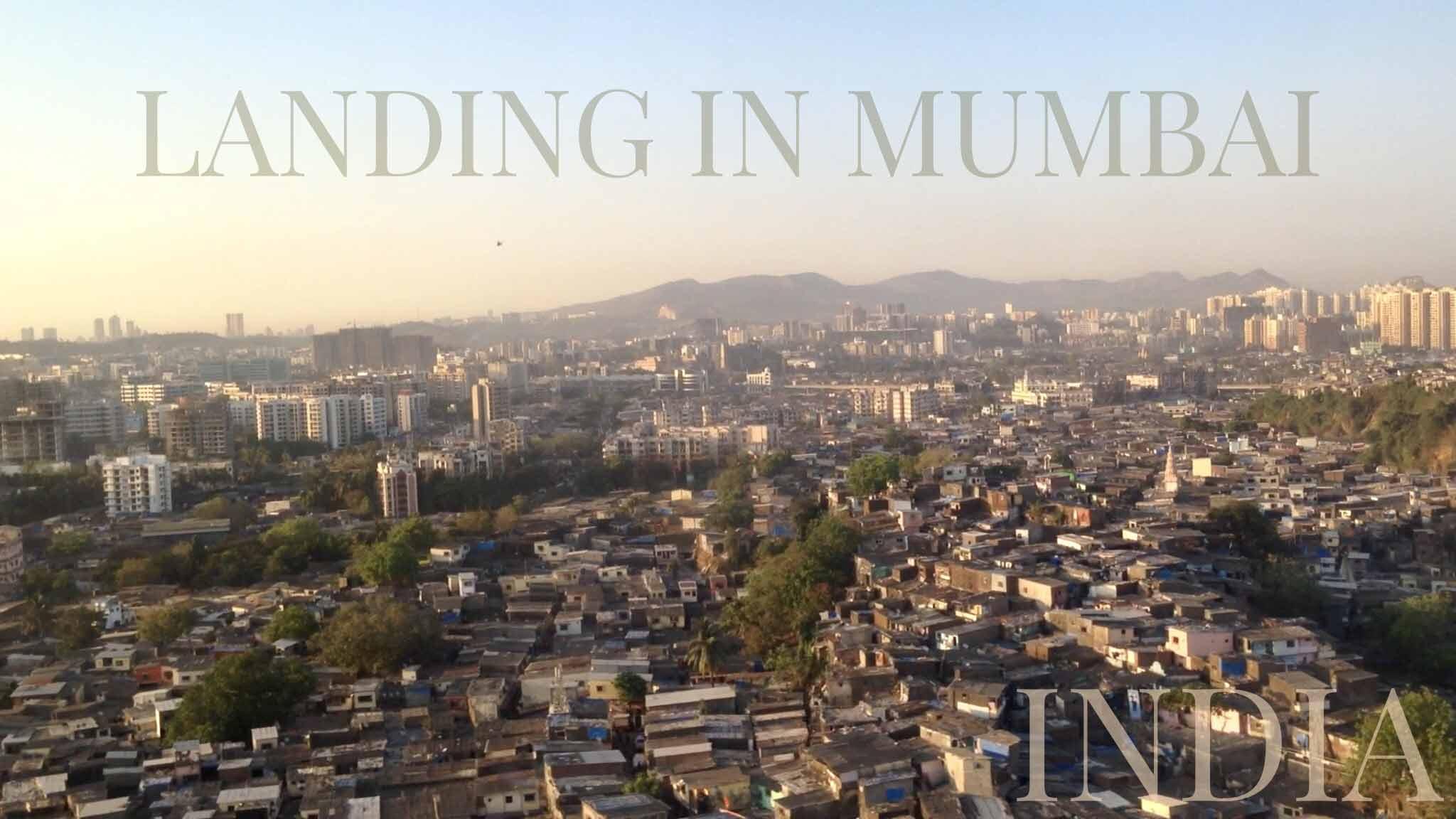 Laskeutuminen Mumbaihin