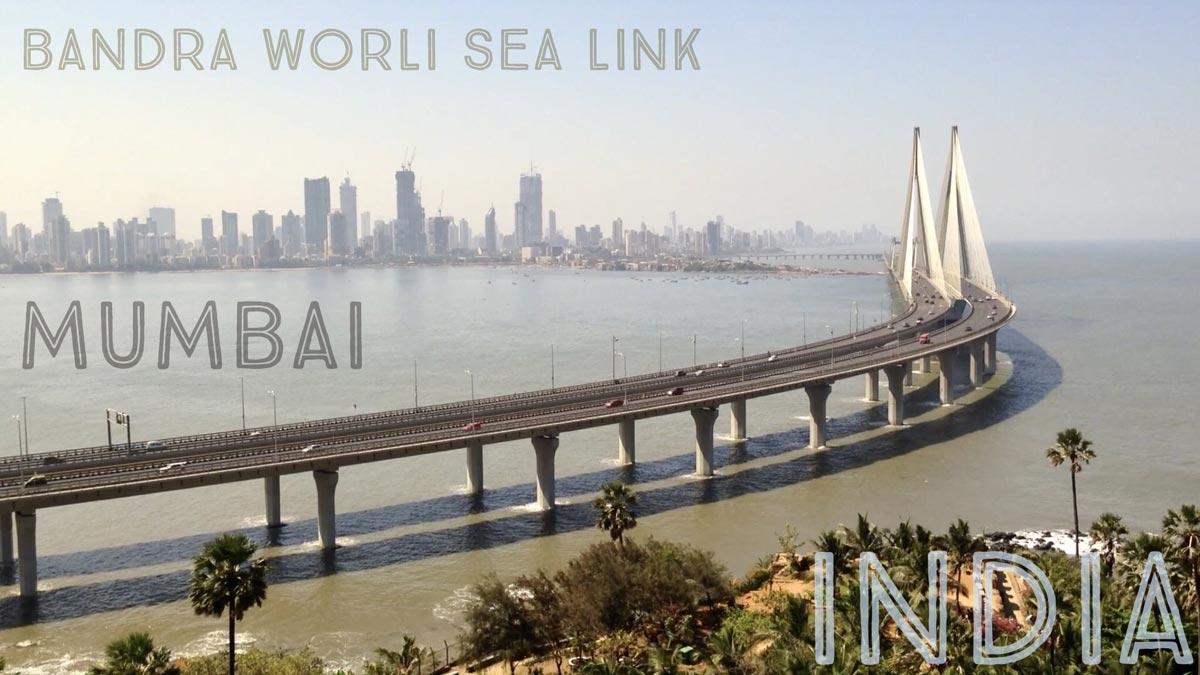 Video: Liikennettä Bandra Worli Sea Link -sillalla Mumbaissa
