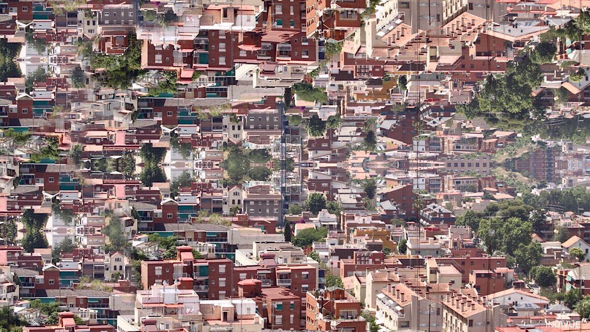 Barcelonan inspiroimaa digitaaligrafiikkaa ja taidetta
