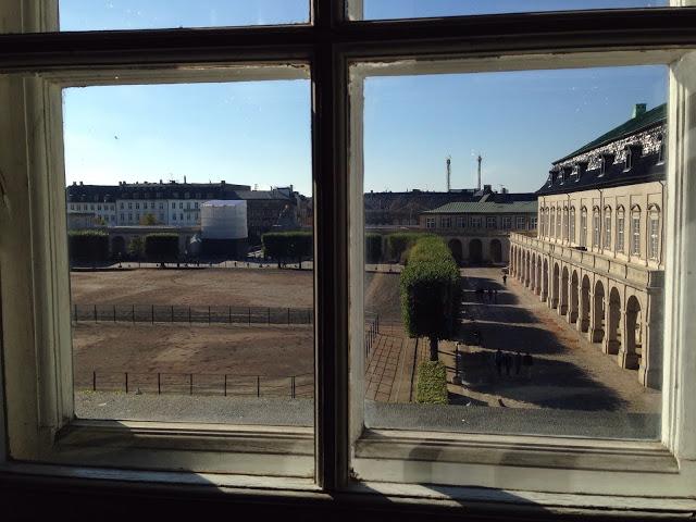 Näkymä Christianborgin palatsin ikkunasta