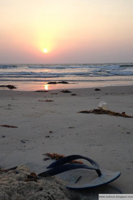 Meriveden mukana ajelehtinutta jätettä
