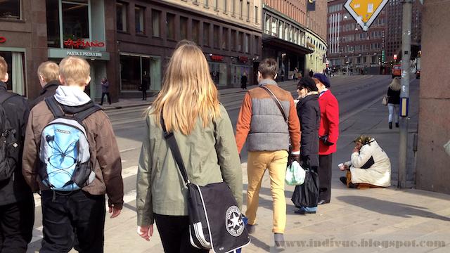 Kerjäläinen Helsingissä, Suomessa