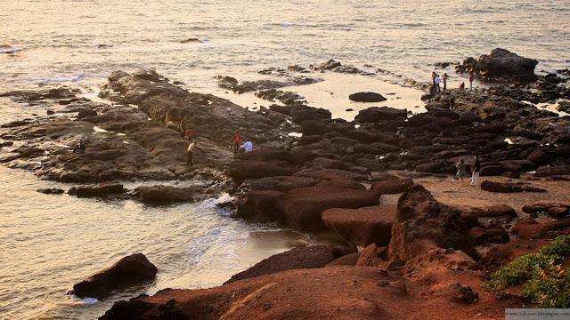 Anjunan kalliokivet Intian Goassa
