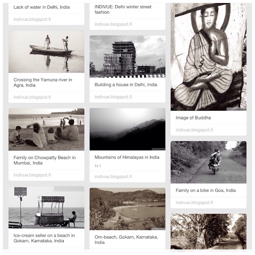 Valokuvia Intiasta Pinterestissä