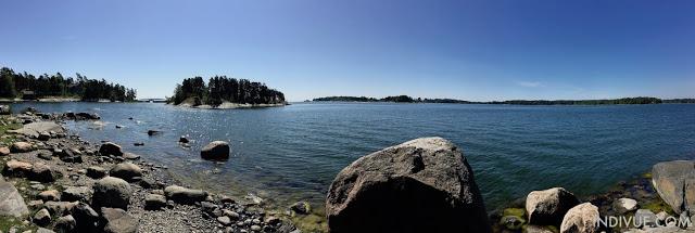 Helsinki, Uutela ja näkymä merelle (panoraama)