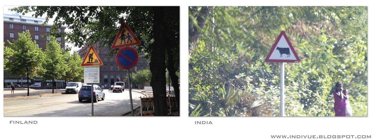 Varoituskolmio Suomessa ja Intiassa