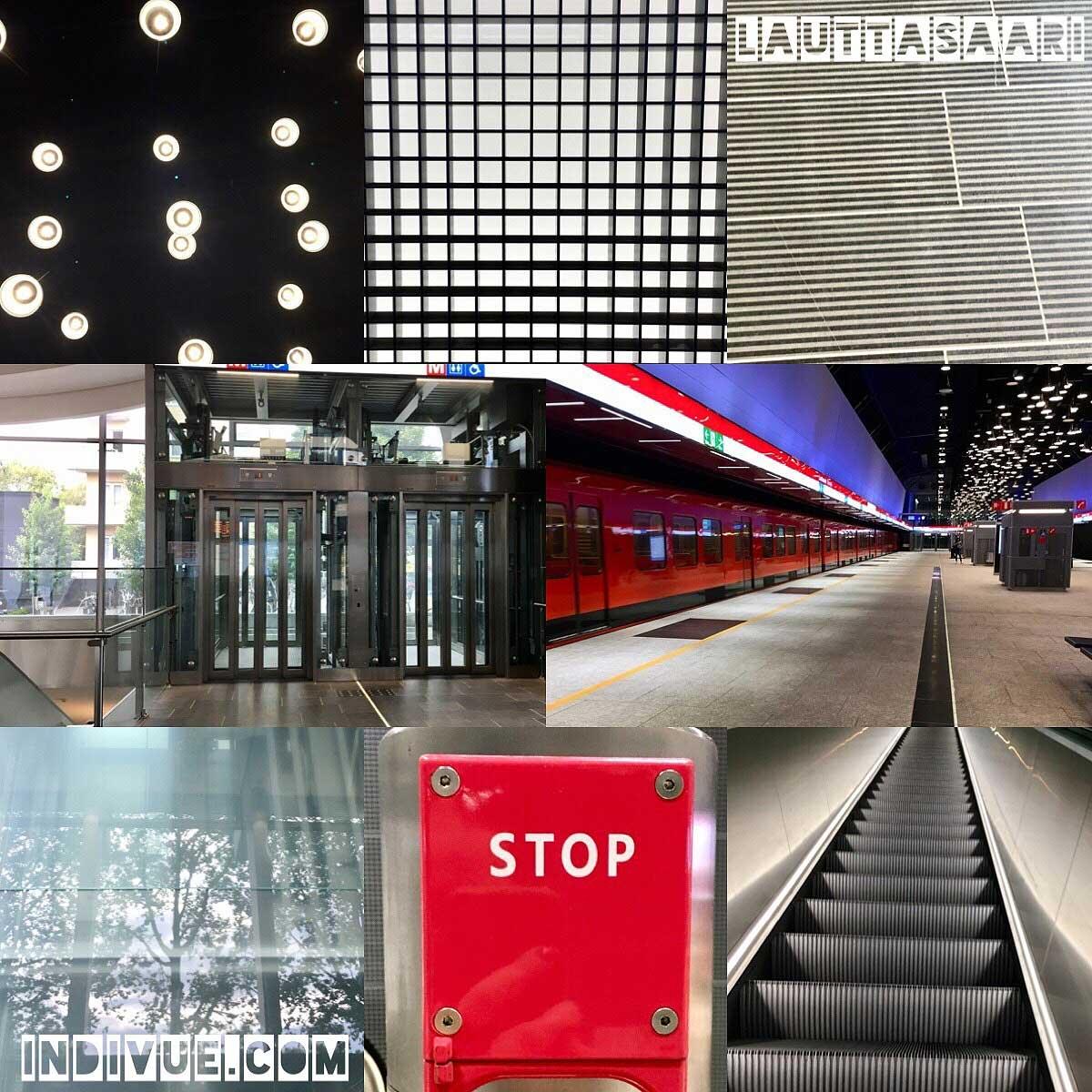 Lauttasaaren metroasema -valokuvamontaasi