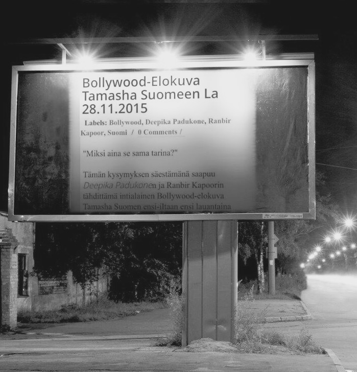 Bollywood-elokuva Tamashan Suomen ensi-ilta