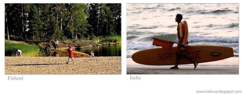 Hengenpelastaja ja surf rescue -lauta, Suomessa sekä Intiassa