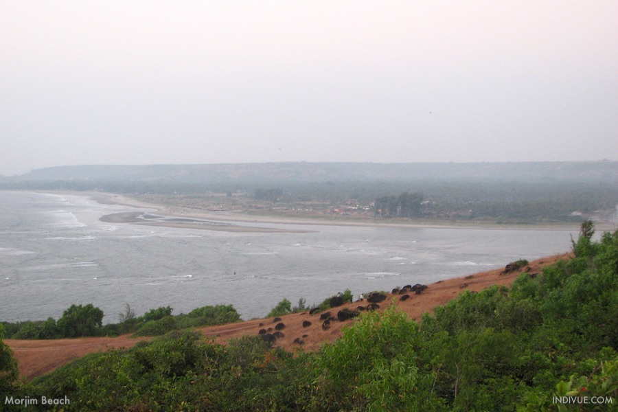 Morjim Beach, view from Fort Chaporasta