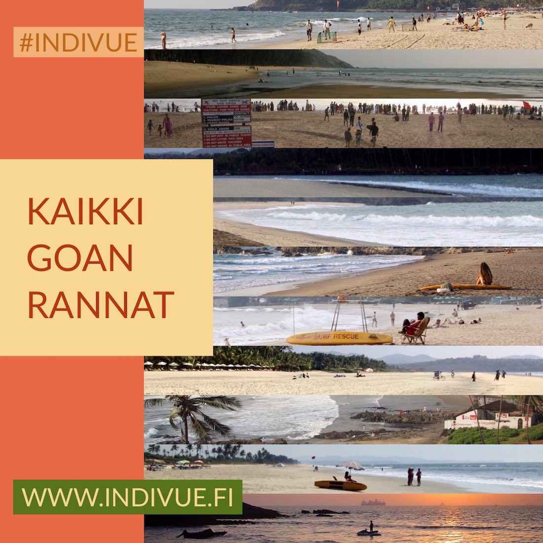Kaikki Goan rannat ja hotellit