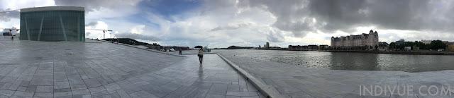 Oslon Oopperatalo ja keskustaa (panoraama)