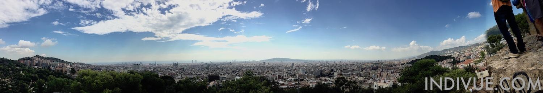 Barcelona, Gaudi ja näkymä ylitse kaupungin (panoraama)