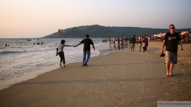 Baga Beach Pohjois-Goassa