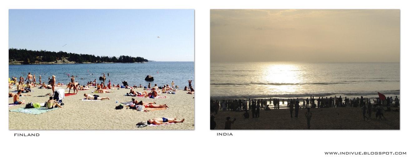 Uimarantoja Suomessa ja Intiassa