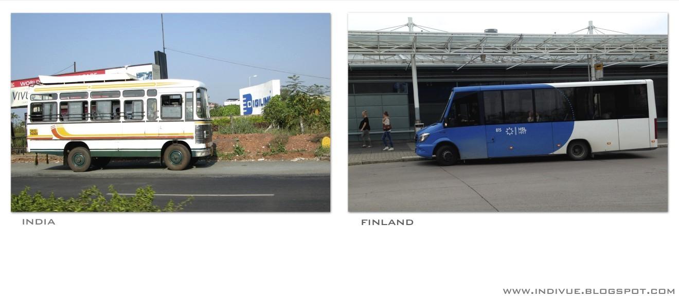 Minibusseja Suomessa ja Intiassa