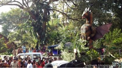 Karnevaalikulkue, Goa, Intia