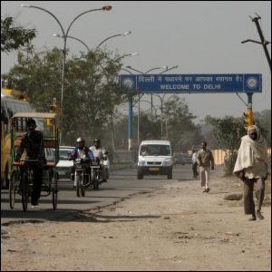 Tervetuloa-kyltti Delhiin