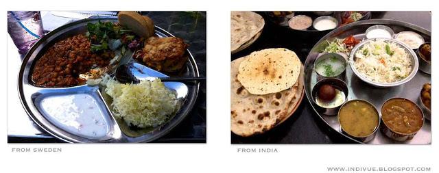 Ruotsalainen ja intialainen thali