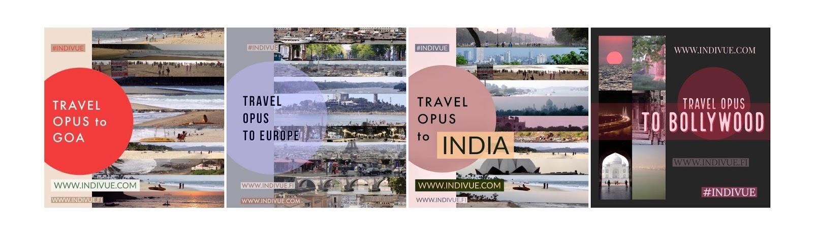 Matkaopus Intiaan ja Eurooppaan, Goaan ja Bollywoodiin, myös englanniksi