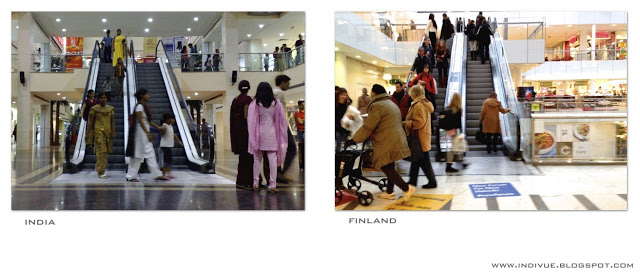 Liukuportaat Suomessa ja Intiassa