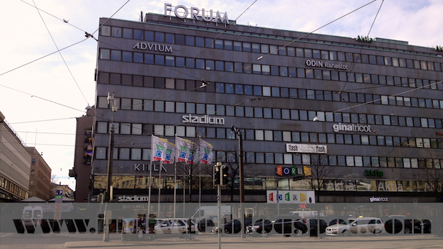 Suomalainen kauppakeskus Helsingissä