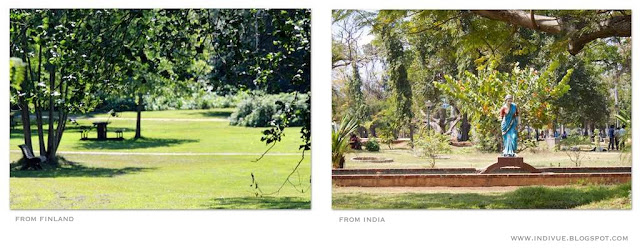 Suomalainen puisto ja intialainen puisto