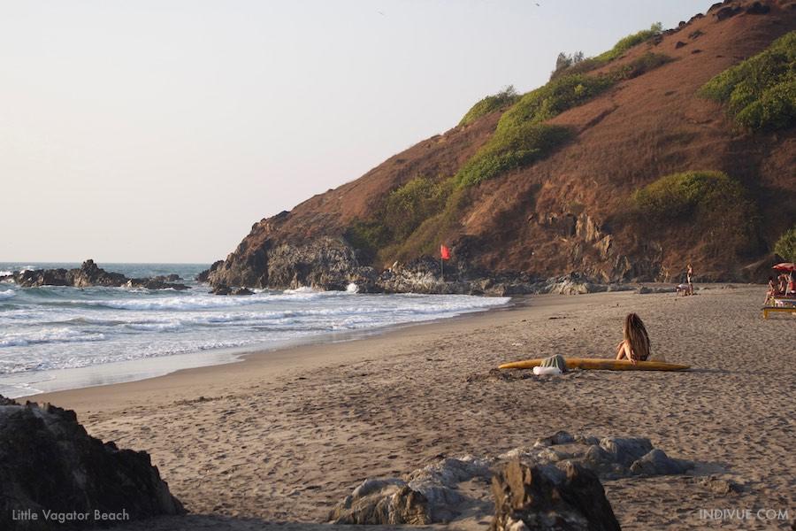 Little Vagator Beach - uimaranta Pohjois-Goassa, Intiassa