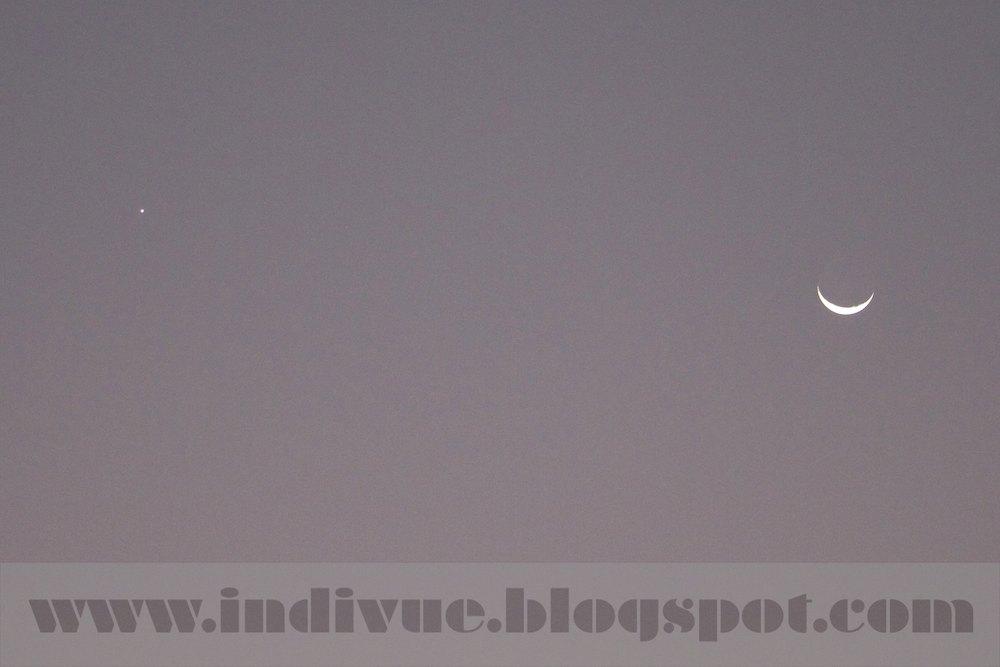 Venus ja kuu samassa kuvassa