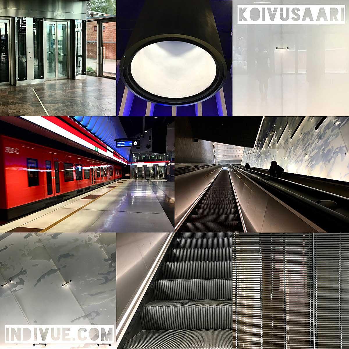 Koivusaaren metroasema -valokuvamontaasi