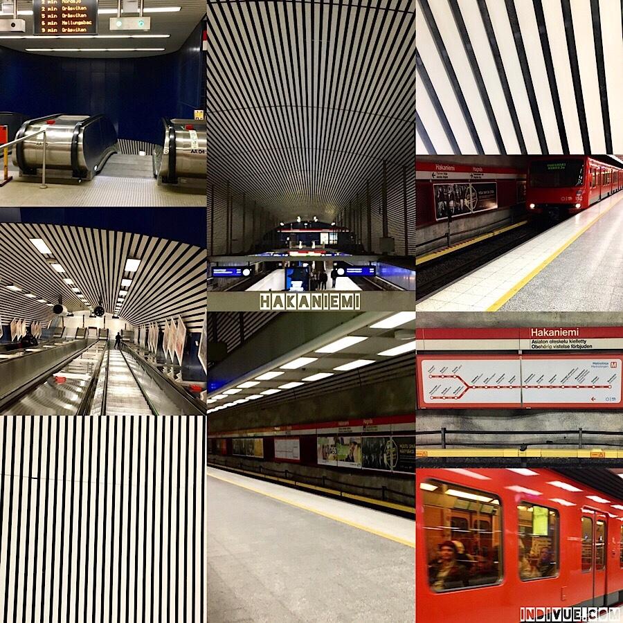 Hakaniemen metroasema -kollaasi