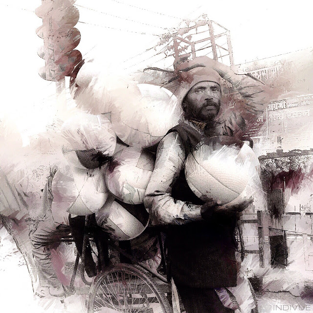 Työntekijän muotokuva - Indivue Digimaalaus New Delhistä