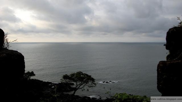 Näkymä Cabo de Raman linnakkeesta Intian Goassa
