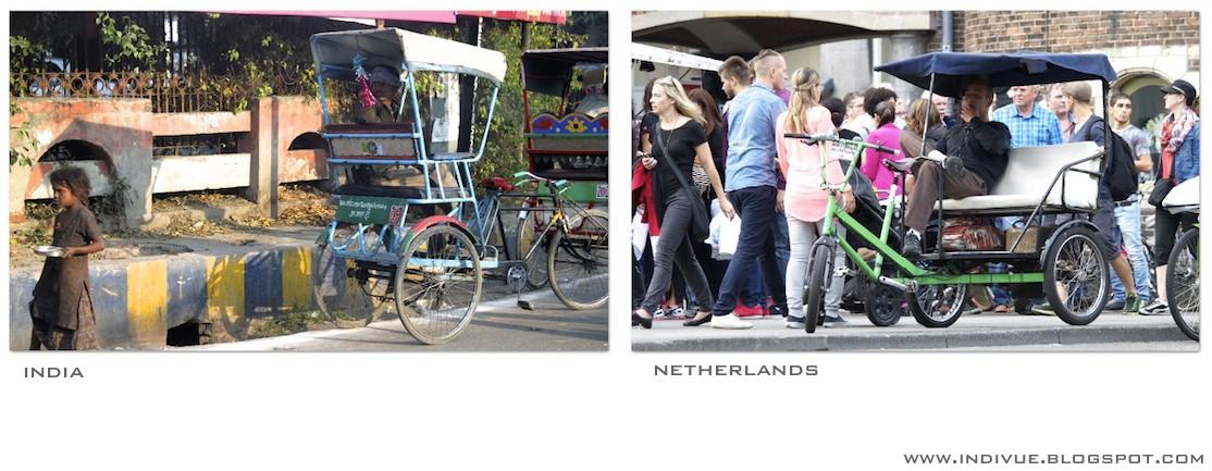 Polkupyöräriksa Intiassa ja Amsterdamissa