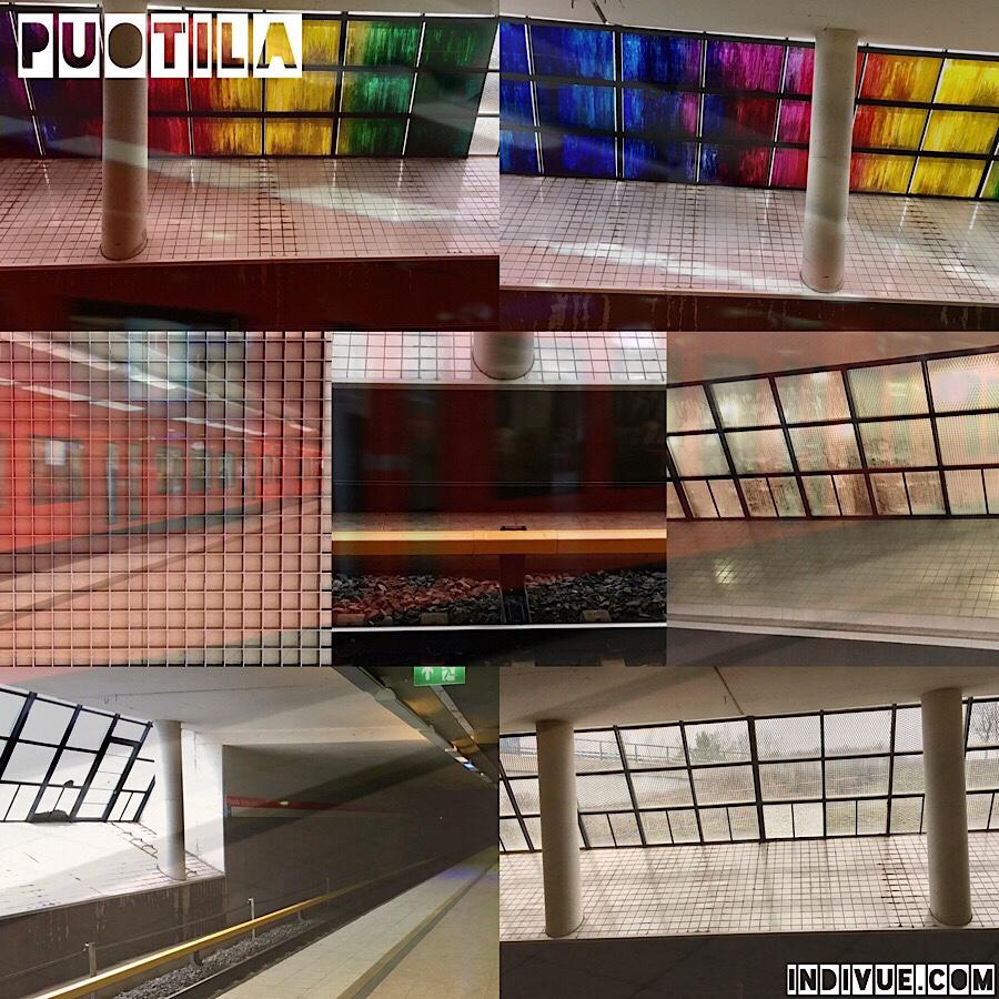 Puotilan metroasema -kollaasi ja matkaopas