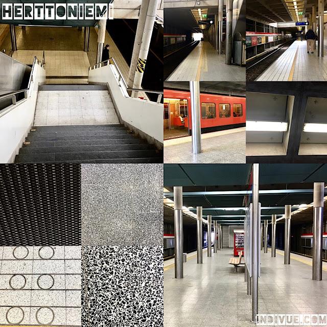 Herttoniemen metroasema -kollaasi